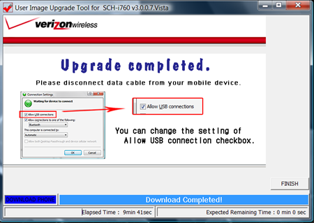 Verizon SCH-i760 Upgrade Tool