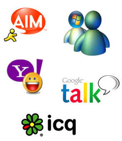 Instant Messaging apps - AIM, MSN Messenger, Windows Live Messenger, Yahoo Messenger, Google Talk, ICQ